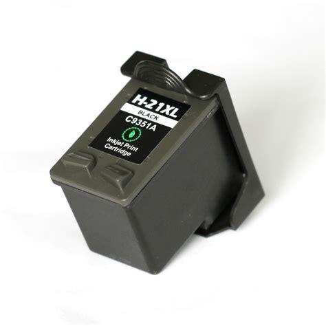 Catridge Hp 21 Bk Black hp 21 xl bk c9351ae with chip 17 ml black compatible