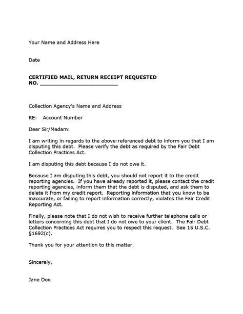 debt collection letter mt home arts
