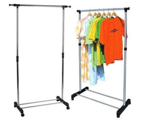 Clothes Drying Rack With Wheels by Clothes Lines Racks Portable Single Pole Telescopic