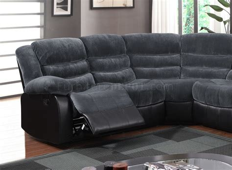 motion sectional sofa u93935 motion sectional sofa in grey fabric by global