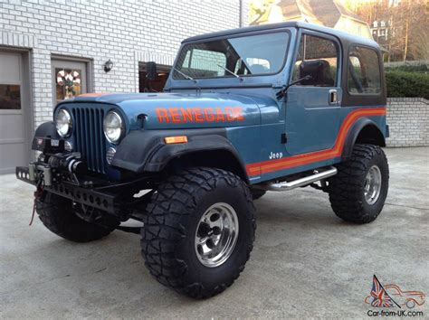 Lifted Jeep Cj7 For Sale 1986 Jeep Cj7 Renegade Original Paint Unrestored Cj