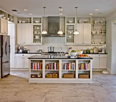 Kitchen Island With Open Shelves Open Kitchen Shelving