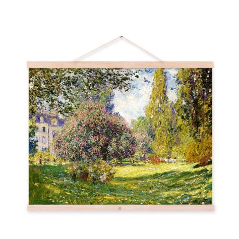 libro painting the modern garden claude monet green modern impressionist cottage garden large poster prints pink flowers canvas