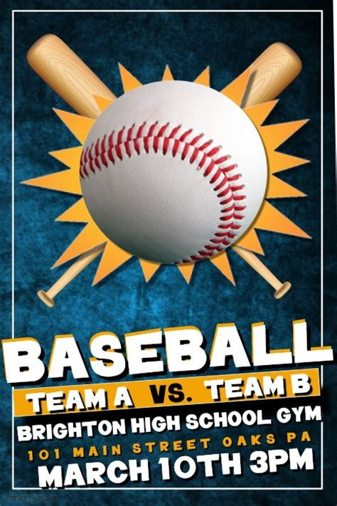 Baseball Tryout Flyer Template Free
