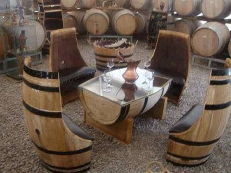 Barrel Garden Furniture by Wine Barrels Cool Idea Barrel And Wines