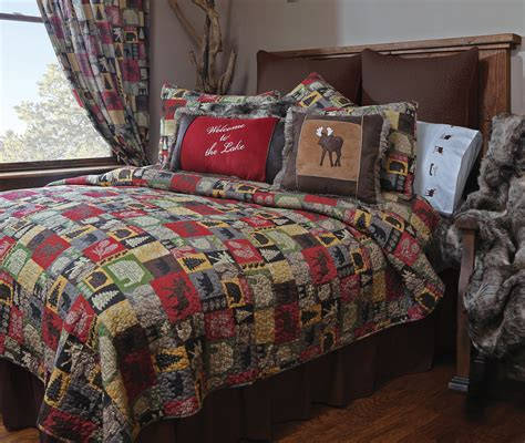 cabin in the woods 5 piece quilt set carstens inc