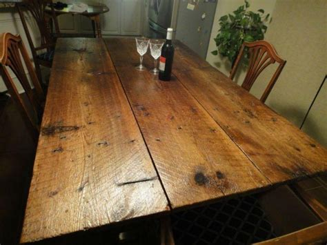 Barn Door Tables Barn Door Dining Table On Reclaimed Brushed Nickel Legs 171 Ibuildfurniture