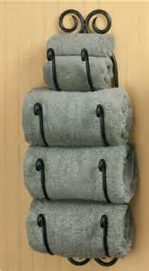 Primitive country bathroom iron bath towel holder black