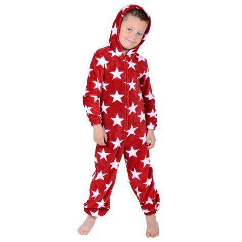 boys fleece pyjamas boys hooded fleece all in one pyjamas pj