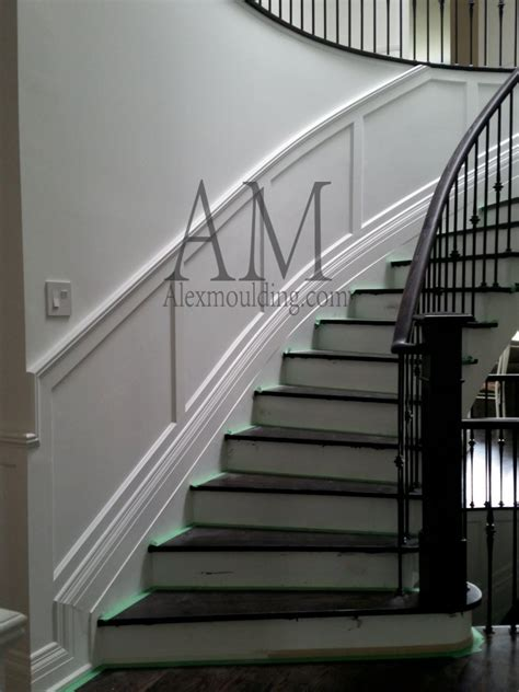 wainscoting stairs curved staircase wainscot modern wainscoting