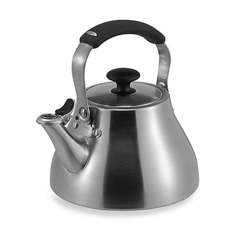 bed bath and beyond kettle oxo good grips 174 brushed stainless steel tea kettle bed