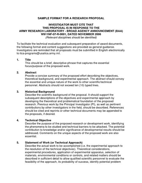 proposal format for research project apa format sle research proposal
