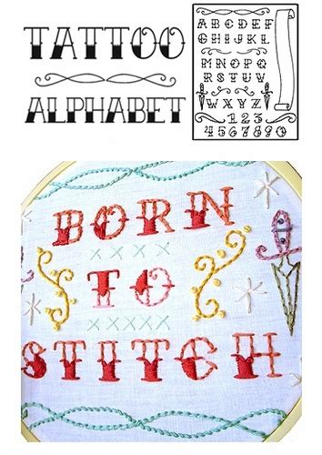 tattoo alphabet cross stitch sublime stitching quot tattoo alphabet quot fabric and sewing