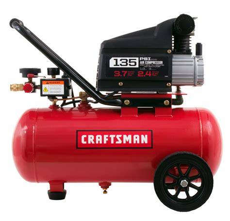 craftsman 7 gallon 1 0 hp horizontal air compressor 135 max psi