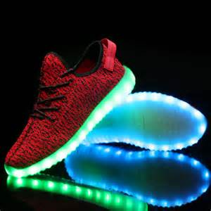 light shoes nike led shoes yeezy style running shoes