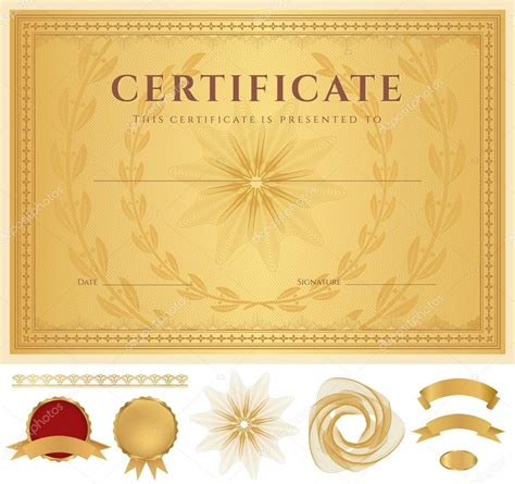 Certificate of completion (template or sample background