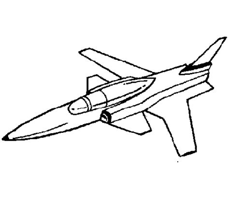 free coloring pages of jet plane