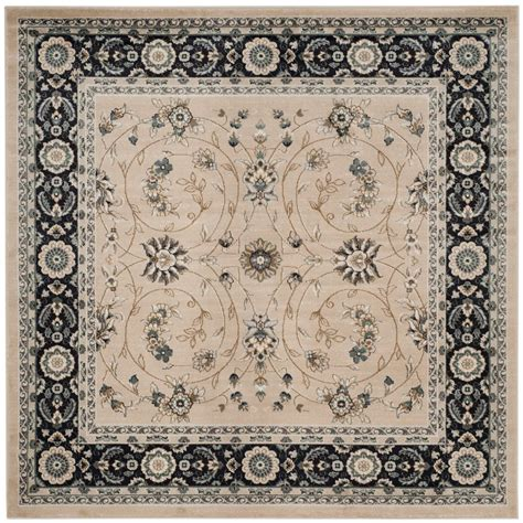 7 x 7 square area rugs safavieh lyndhurst light beige anthracite 7 ft x 7 ft square area rug lnh340k 7sq the home depot