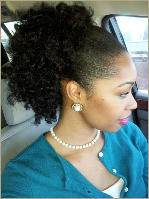 afro puffs hair style for black women clip in short kinky ponytail styles for medium length hair chic stylish