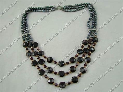 Korean Handmade Jewelry - pearl garnet necklace wholesale jewelry handmade jewelry