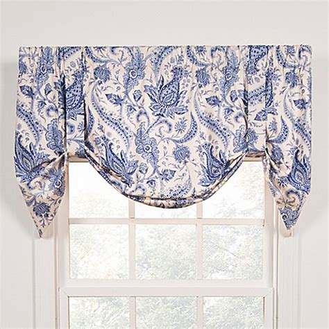 Tie Up Window Curtains Buy Artissimo Tie Up Window Curtain Valance In Blue From Bed Bath Beyond