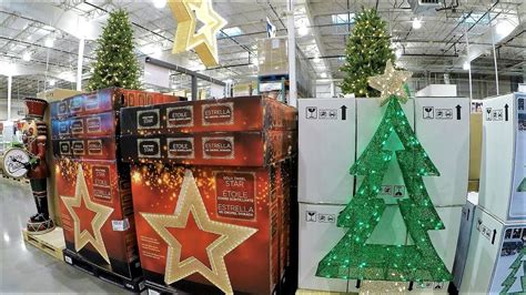 4k section at costco wholesale shopping trees decorations
