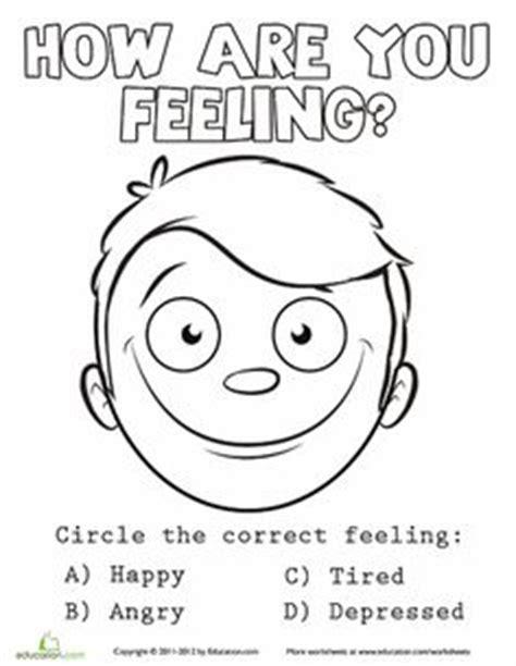 coloring pages emotions preschoolers emotions coloring sheet 5 worksheets school social