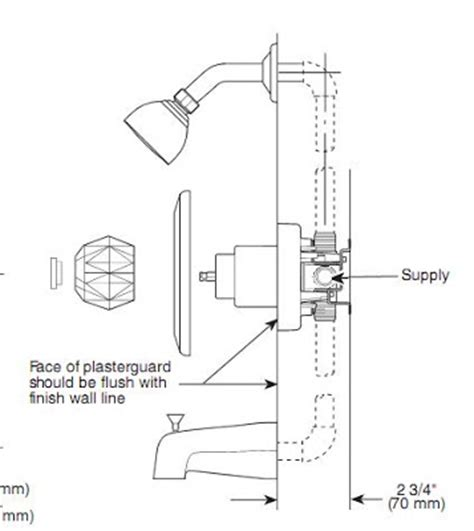 Delta Shower Faucet Manual by How To Fix A Leaking Delta 1400 Series Tub Shower Faucet