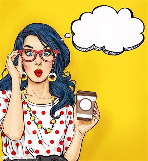 Imagenes De Up Art | 喝咖啡的女人图片素材 图片id 1001549 卡通人物 人物图片 图片素材 淘图网 taopic com