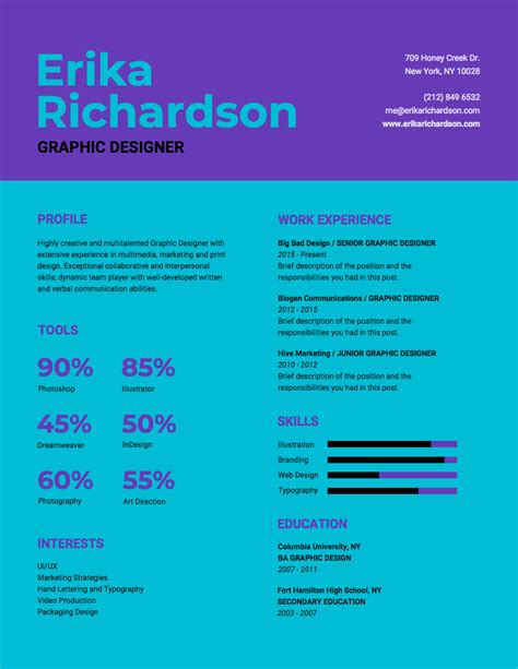 Infographic Resume Template Venngage Infographic Resume Template