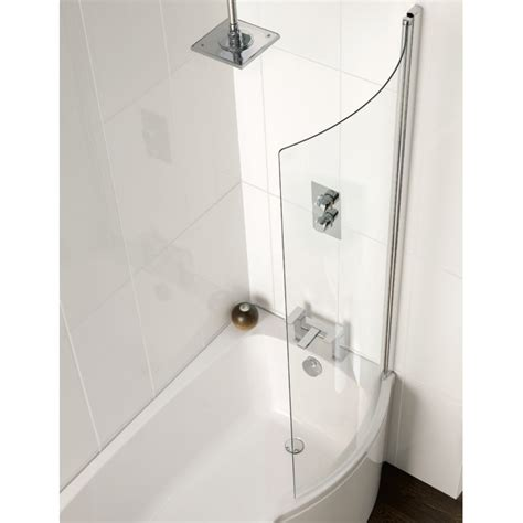 Carron Delta Shower Bath carron delta 1450mm shower screen
