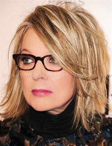 diane keatons layer cut shoulder length hairstyles over 50 diane keaton layered