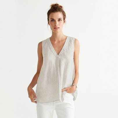 Sleeveless Line Top linen sleeveless top tops t shirts the white company uk