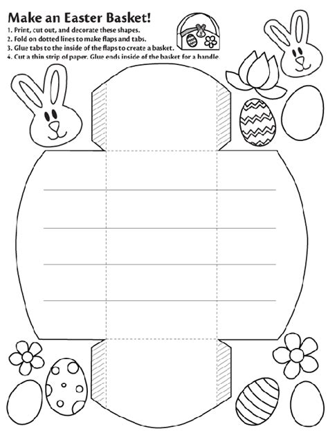 How To Make A Easter Basket Out Of Paper - make an easter basket coloring page crayola