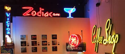 zodiac room a look at the museum of neon s glowing tribute to s historic typographic signseye on