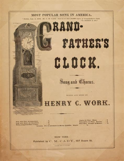 standing on couches lyrics my grandfather s clock the many names of this floor