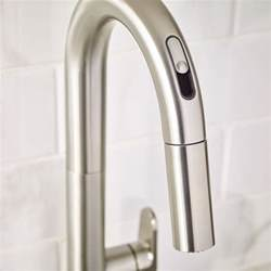 american kitchens faucet beale pull kitchen faucet with selectronic free