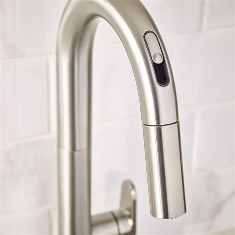 pulldown kitchen faucets beale pull kitchen faucet with selectronic free technology american standard