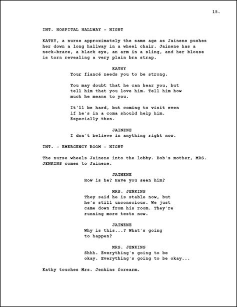 Resume Title Samples by Screenwriting Page Numbering A Screenplay Creative