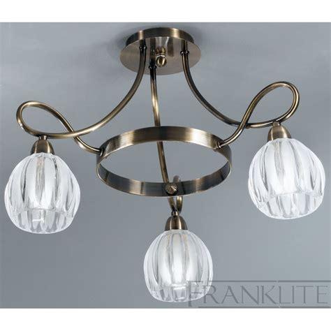 franklite fl2227 3 bronze semi flush ceiling light