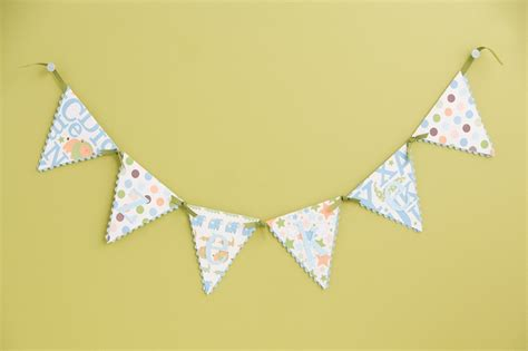 A Paper Banner - paper triangle banner for entertaining
