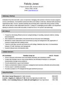 human resources coordinator cv example hashtag cv