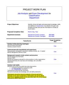 project work package template sle work plan 7 documents in word pdf