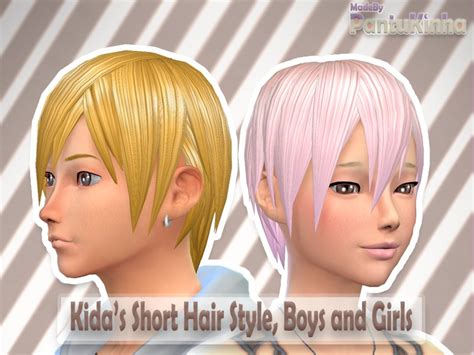 the sims resource tsr anime hair 199 by skysims sims 3 kida s short hair style made by pantukinha