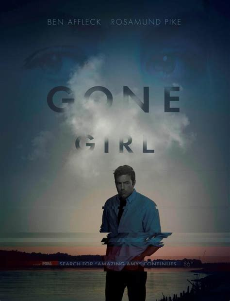 gone girl themes movie new gone girl movie poster reveals ben affleck searching