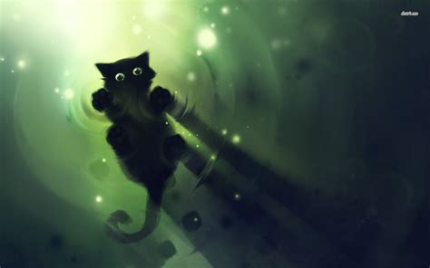 cute black kitten wallpaper artistic wallpapers