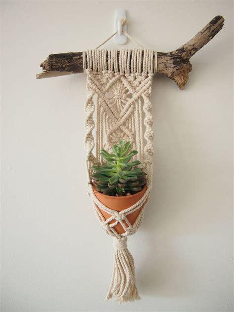 macrame plant hanger wall hanging fits mini pot indoor