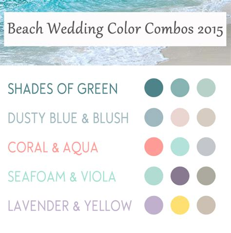 5 wedding color ideas for summer 2015