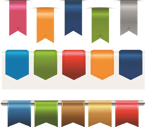 %name cheap colored pencils   Colored silk label 02 vector Free Vector / 4Vector