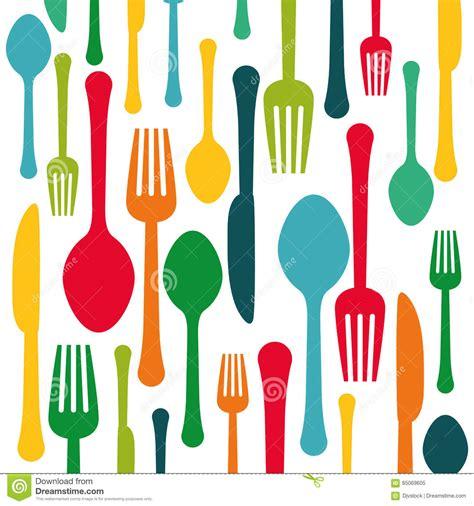 colorful kitchen utensils colorful kitchen utensils background icon stock